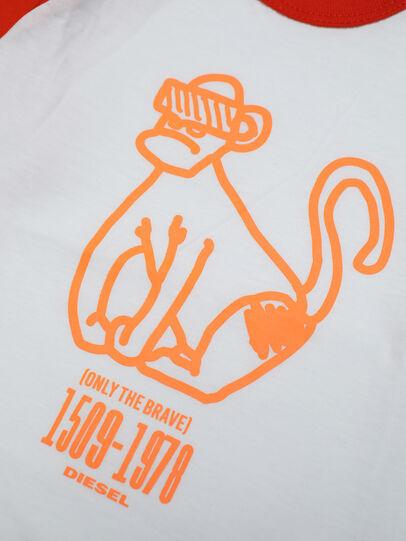 Diesel - TBALYB, Blanco/Naranja - Camisetas y Tops - Image 3