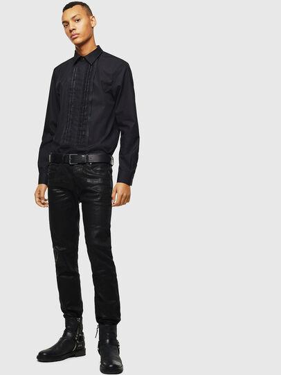 Diesel - S-PLIS, Negro - Camisas - Image 5