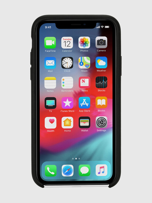 Diesel - DIESEL LEATHER CO-MOLD CASE FOR IPHONE XR, Negro - Fundas - Image 4