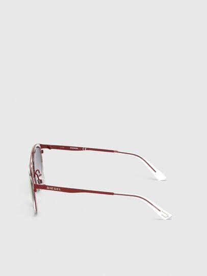 Diesel - DL0293, Rojo/Blanco - Gafas de sol - Image 3