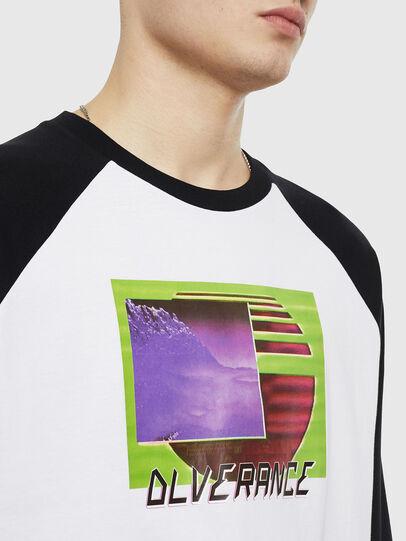 Diesel - T-RODDI, Blanco/Negro - Camisetas - Image 3