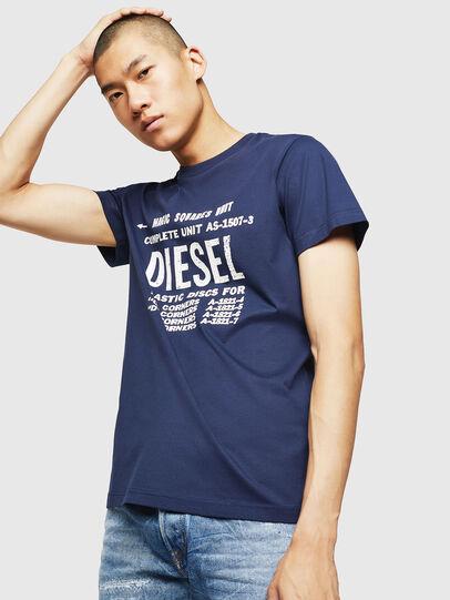 Diesel - T-DIEGO-B6, Azul - Camisetas - Image 1