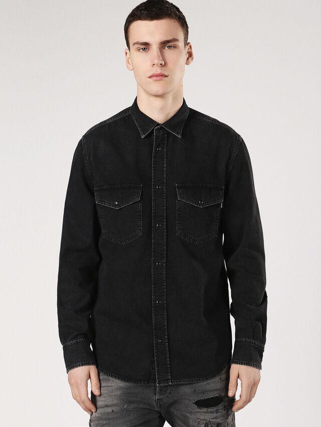 Diesel - D-ROOKE, Black Jeans - Camisas de Denim - Image 1