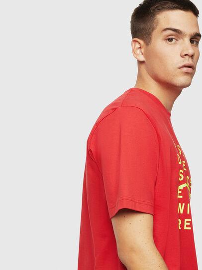 Diesel - T-JUST-J5, Rojo - Camisetas - Image 4