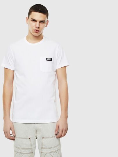Diesel - T-WORKY-SLITS, Blanco - Camisetas - Image 1