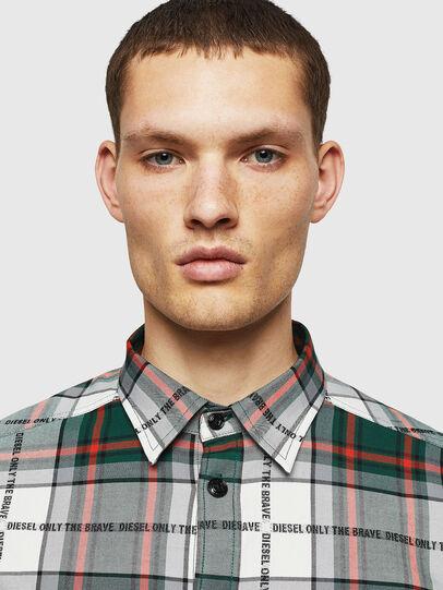 Diesel - S-MILLER-A, Verde Oscuro - Camisas - Image 4