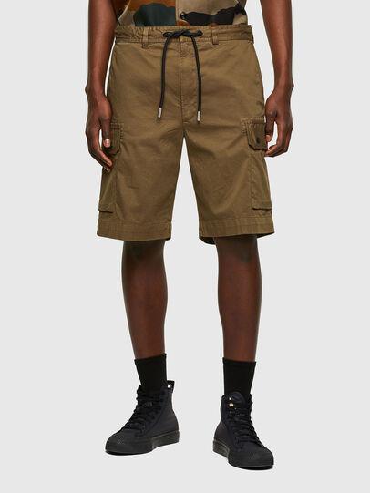 Diesel - P-APE, Verde Militar - Shorts - Image 1