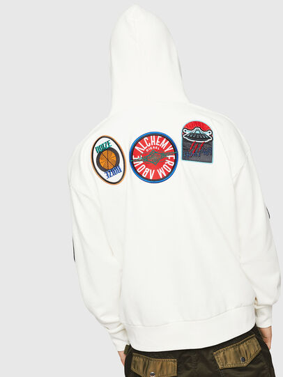 Diesel - S-ALBY-PATCHES, Blanco - Sudaderas - Image 2