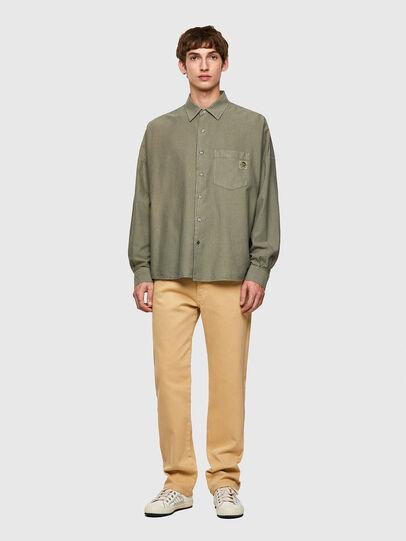 Diesel - S-LOOMY-B, Verde Militar - Camisas - Image 4