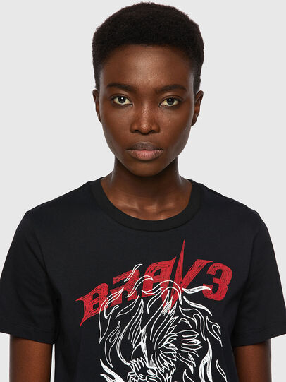 Diesel - T-SILY-B2, Negro - Camisetas - Image 3