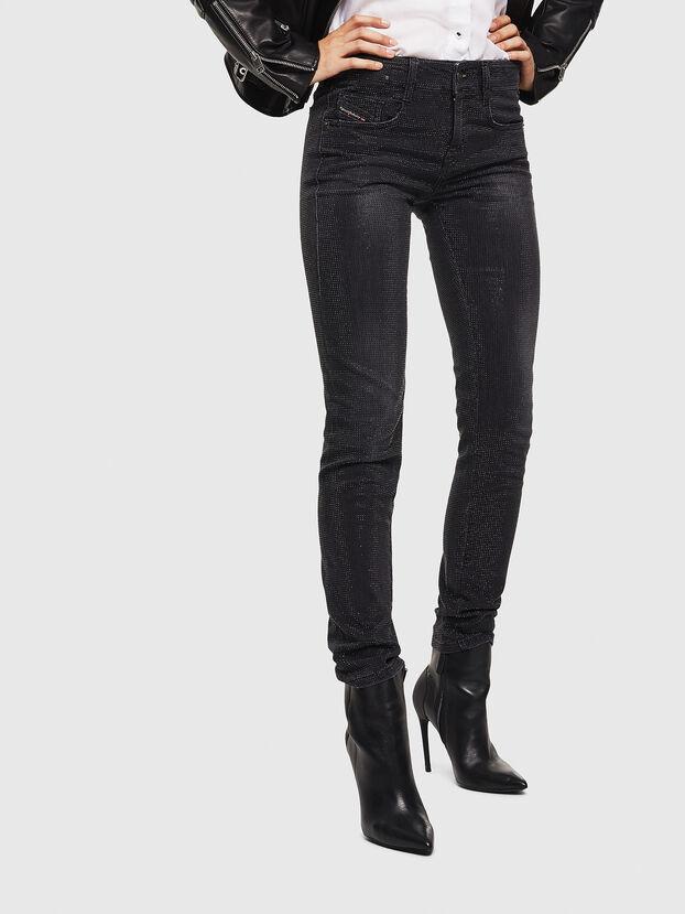 D-Ollies JoggJeans 0093H, Negro/Gris oscuro - Vaqueros