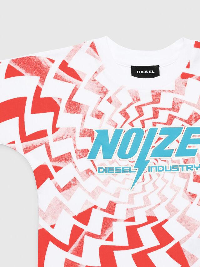 Diesel - TRUCCIB-R, Blanco/Rojo - Camisetas y Tops - Image 1