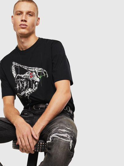 Diesel - T-JUST-J15, Negro - Camisetas - Image 4