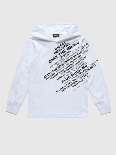 Diesel - TDIEGOHOODS3 ML, Blanco - Camisetas y Tops - Image 1