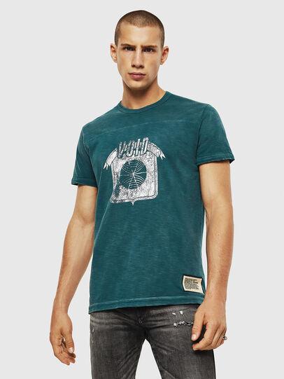 Diesel - T-DIEGO-CUT-AC, Azul Marino - Camisetas - Image 1