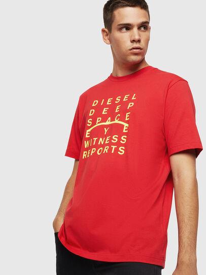 Diesel - T-JUST-J5, Rojo - Camisetas - Image 1