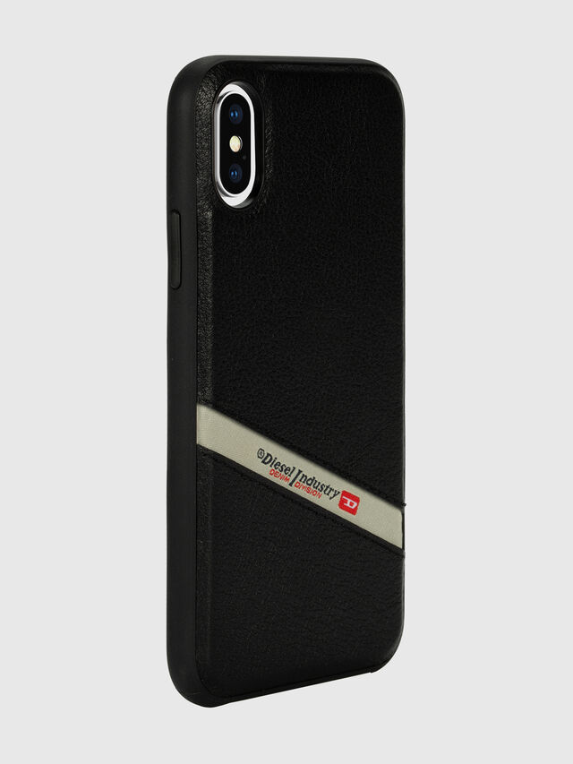 Diesel - DIESEL LEATHER CO-MOLD CASE FOR IPHONE XS & IPHONE X, Negro - Fundas - Image 6