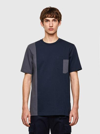 Diesel - T-RISEN-B1, Azul Oscuro - Camisetas - Image 1
