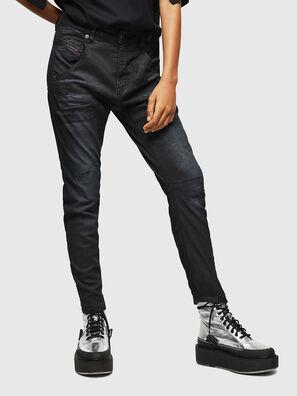 Fayza JoggJeans 069GP, Negro/Gris oscuro - Vaqueros