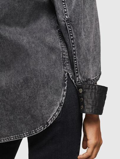 Diesel - DE-COLLY, Negro/Gris oscuro - Camisas de Denim - Image 5