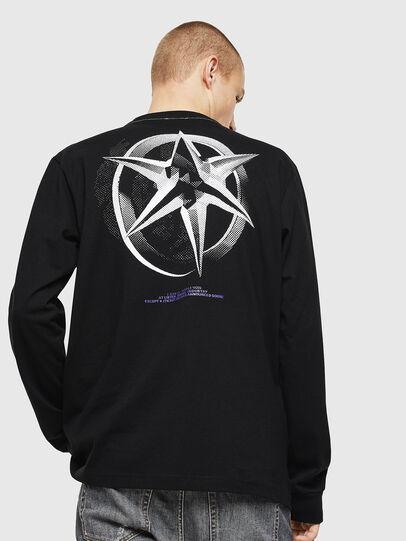 Diesel - T-JUST-LS-VINT, Negro/Blanco - Camisetas - Image 2