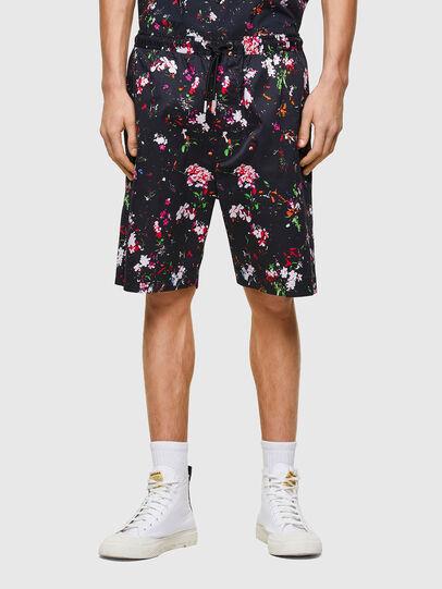 Diesel - P-TOLLER-SHORT-FLOWE, Negro - Shorts - Image 1