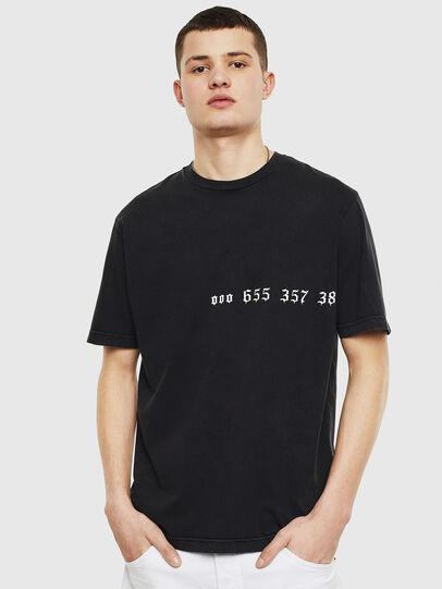 Diesel - T-JUST-T12, Negro - Camisetas - Image 1
