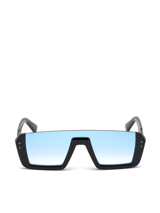 Diesel - DL0248, Negro Brillante - Gafas de sol - Image 1