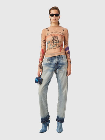 Diesel - T-SIELY, Polvos de Maquillaje - Camisetas - Image 4