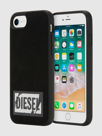 Diesel - BLACK DENIM IPHONE 8/7/6S/6 CASE, Negro - Fundas - Image 1