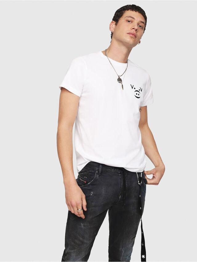 Diesel - CL-T-GADIE, Blanco - Camisetas - Image 1