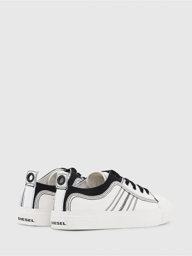 Diesel - S-ASTICO LOW LACE, Blanco/Negro - Sneakers - Image 3