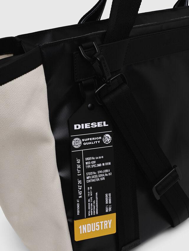 Diesel - F-CAORLY SHOPPER L, Negro/Blanco - Bolsos Shopper y Al Hombro - Image 3