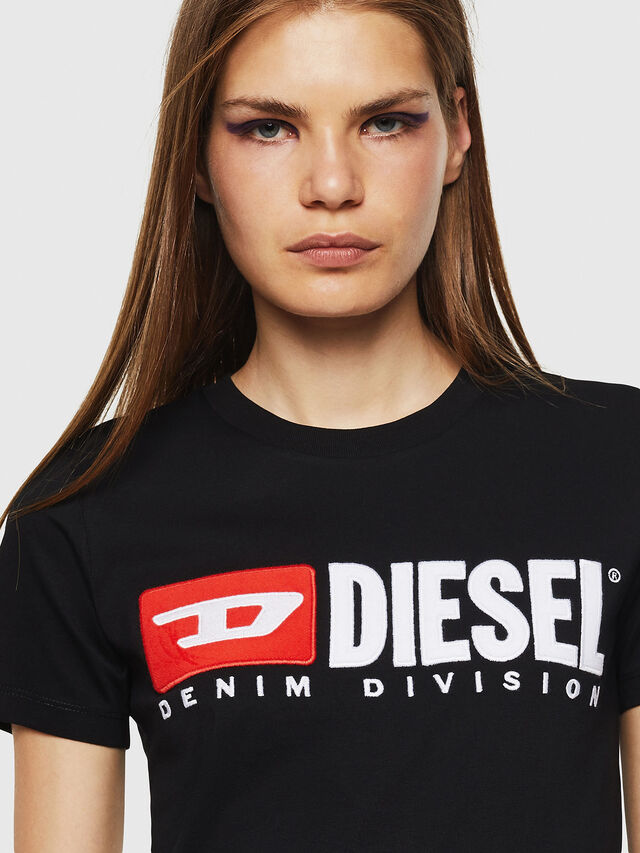 Diesel - T-SILY-DIVISION, Negro - Camisetas - Image 3