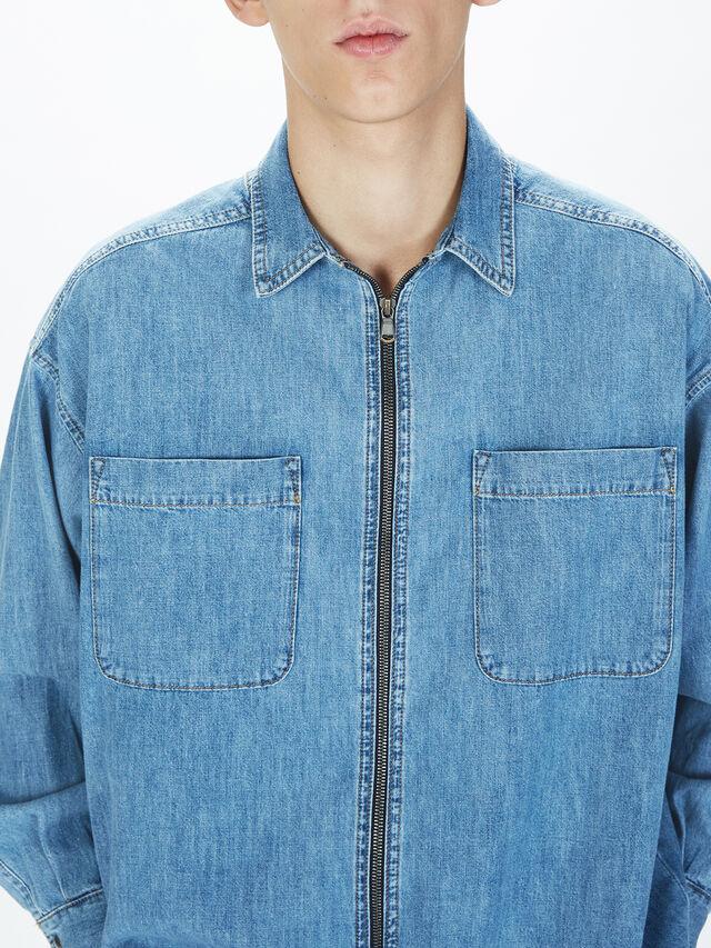 Diesel - SOTS01, Azul Claro - Camisas - Image 8