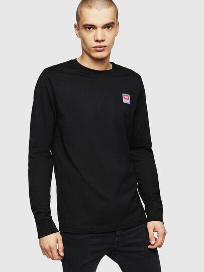 Diesel - T-DIEGO-DIV-LS, Negro - Camisetas - Image 1