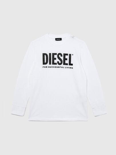 Diesel - TJUSTLOGO ML, Blanco - Camisetas y Tops - Image 1