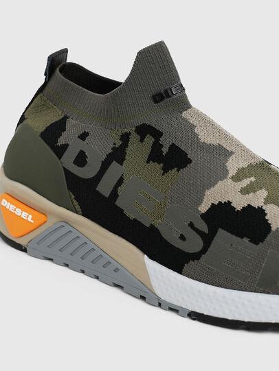Diesel - S-KB ATHL SOCK II, Verde Camuflaje - Sneakers - Image 4