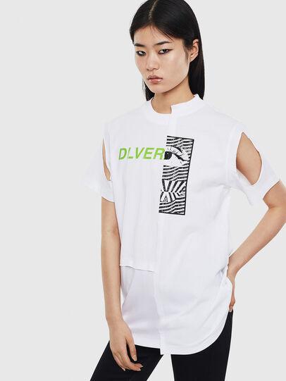 Diesel - T-GOMEZ, Blanco - Camisetas - Image 1