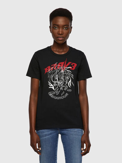 Diesel - T-SILY-B2, Negro - Camisetas - Image 1