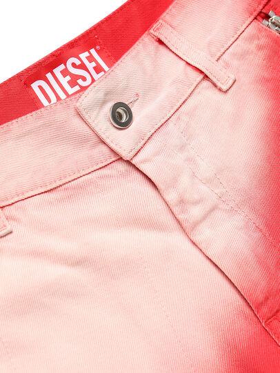 Diesel - GR02-P303, Rojo/Blanco - Shorts - Image 4