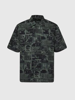 S-ROHAD-B, Negro/Verde - Camisas