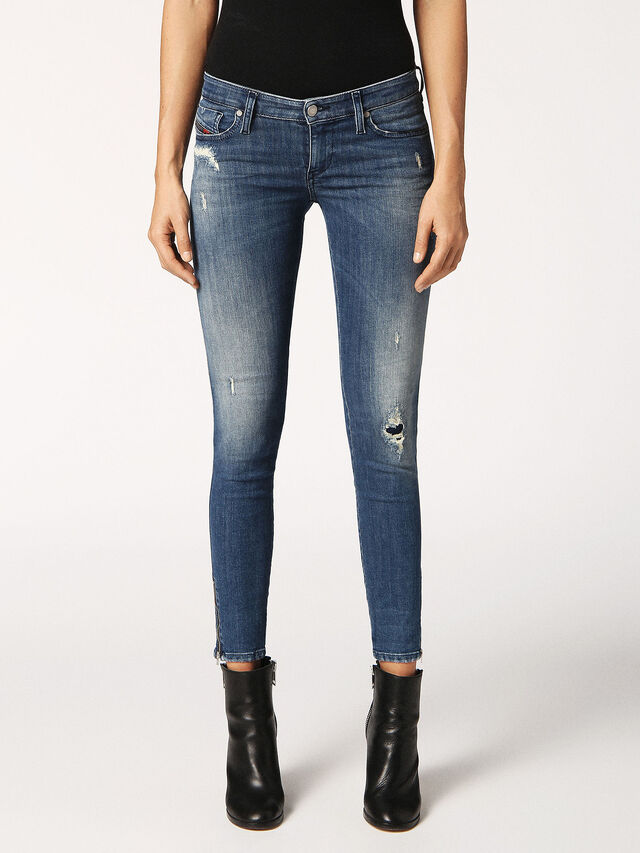 SKINZEE-LOW-ZIP 084MU, Blue Jeans