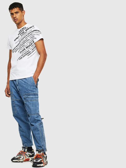 Diesel - T-DIEGO-S3, Blanco - Camisetas - Image 4