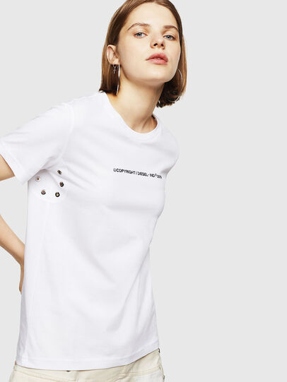 Diesel - T-SILY-WR, Blanco - Camisetas - Image 1