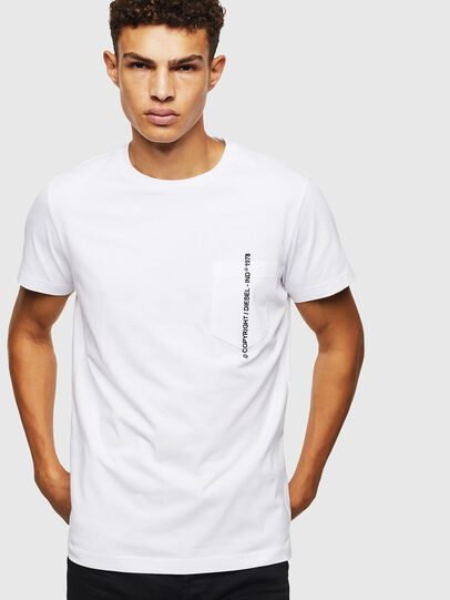 Diesel - T-RUBIN-POCKET-J1, Blanco - Camisetas - Image 1