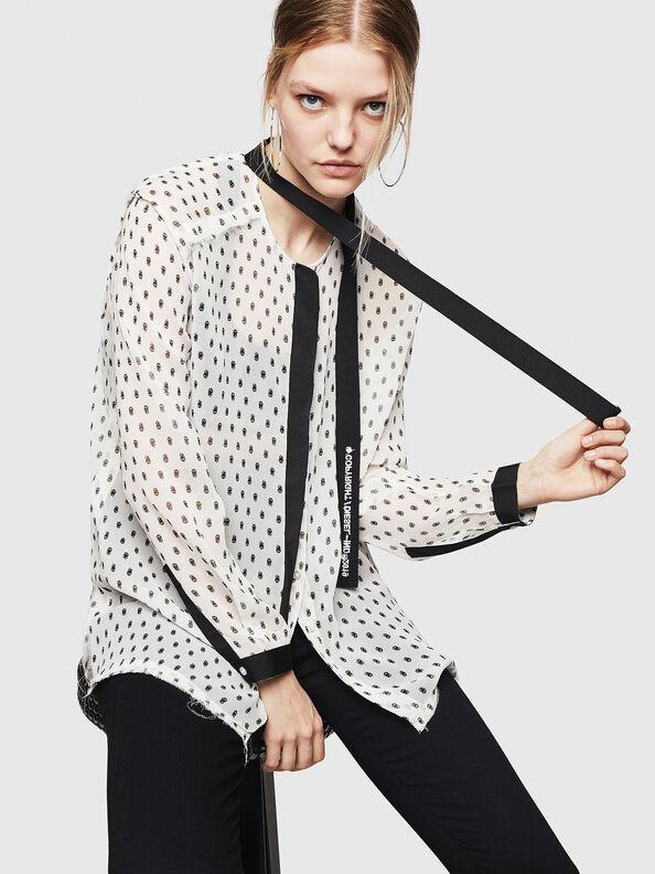 C-SAKURA-B, Blanco/Negro - Camisas