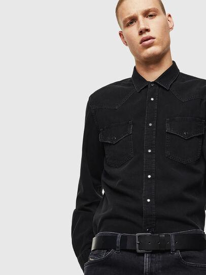 Diesel - D-EAST-P, Negro - Camisas de Denim - Image 4