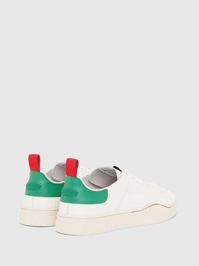 Diesel - S-CLEVER LS, Blanco/Verde - Sneakers - Image 3