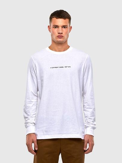 Diesel - T-JUST-LS-X93, Blanco - Camisetas - Image 1